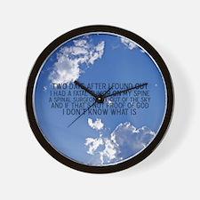 2-spinalsurgeonbutton Wall Clock