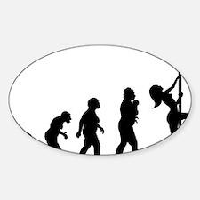 Pole Dancer Sticker (Oval)