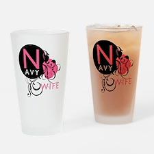 InitialLadyLikeNavyWife Drinking Glass