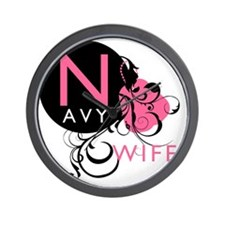 InitialLadyLikeNavyWife Wall Clock