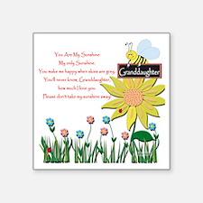 "You Are My Sunshine Grandau Square Sticker 3"" x 3"""