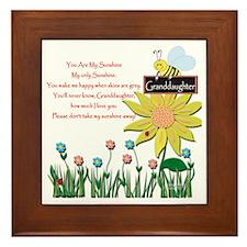 You Are My Sunshine Grandaughter Framed Tile