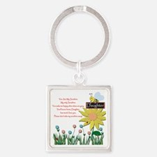 You Are My Sunshine Daughter Square Keychain