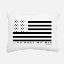 2-LiveFree or die flag u Rectangular Canvas Pillow