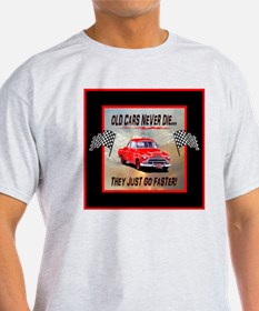 Old Cars Never Die!(11 x 11) Red Bor T-Shirt