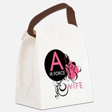 InitialLadyLikeAirForceWife Canvas Lunch Bag
