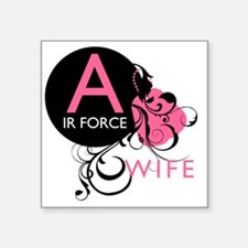 "InitialLadyLikeAirForceWife Square Sticker 3"" x 3"""