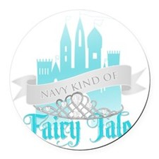 FairytaleNavy Round Car Magnet