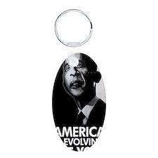 obama journal 1 Keychains