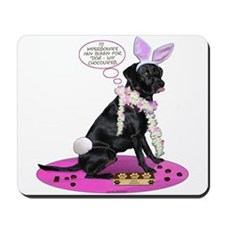 Black Lab Easter Mousepad
