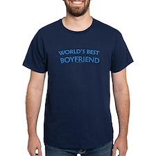 World's Best Boyfriend - Navy T-Shirt