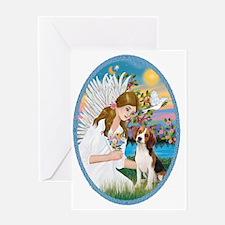 Angel Love - Beagle 1 Greeting Card