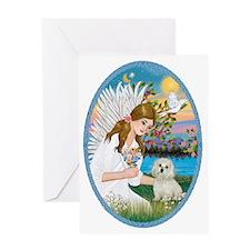 Angel Love - Maltese Greeting Card