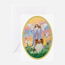 Angel Blessings - Papillon (fawn) Greeting Card