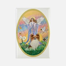 Angel Blessings - Papillon (fawn) Rectangle Magnet