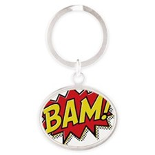 2-Bam Oval Keychain