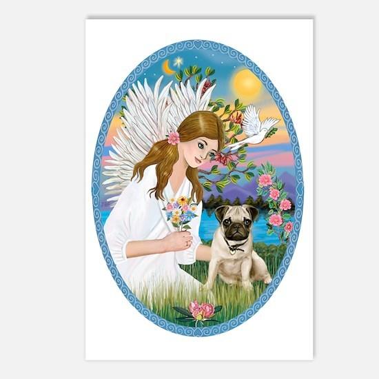 Angel Love - Pug Pup Postcards (Package of 8)