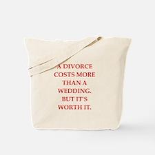divorce Tote Bag