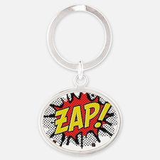 2-Zap Oval Keychain