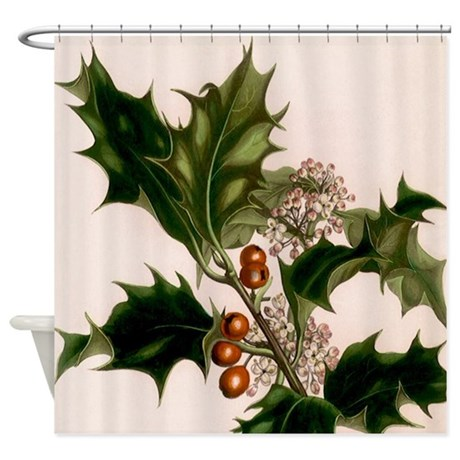 holly berries Shower Curtain