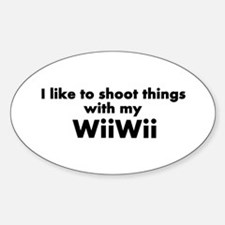 WiiWii Oval Decal