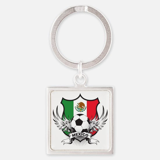 mexico Square Keychain