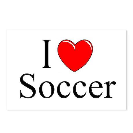 """I Love (Heart) Soccer"" Postcards (Package of 8)"