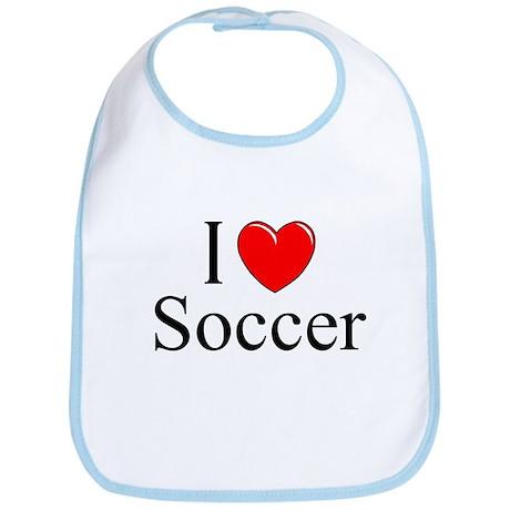 """I Love (Heart) Soccer"" Bib"