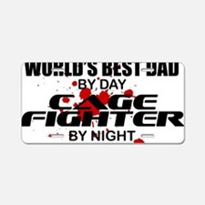 CAGE FIGHTER copy Aluminum License Plate