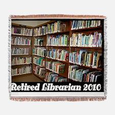retired librarian 2010 Woven Blanket
