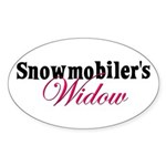 Widow in Snow Oval Sticker