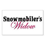 Widow in Snow Rectangle Sticker