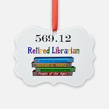 Retired Librarian 569.12 Ornament