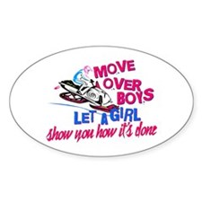 Move Over Boys Decal
