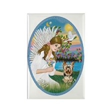 Angel Love - Yorkshire Terrier #1 Rectangle Magnet
