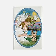 Angel Love - Yorkshire Terrier #1 Rectangle Magnet
