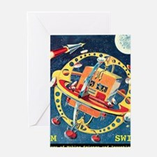 Challenger Space Rocket Greeting Card