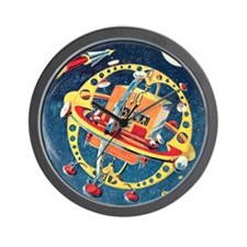 Challenger Space Rocket Wall Clock