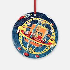 Challenger Space Rocket Round Ornament