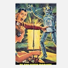 Plays With Robots Postcards (Package of 8)