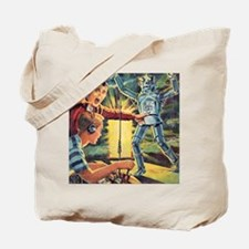 Plays With Robots Tote Bag