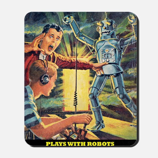 Plays With Robots Mousepad