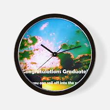 clouds png graduate dsc00007 crop high  Wall Clock