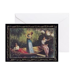 Maidens on the River Greeting Cards (Pk of 10)