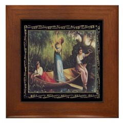 Maidens on the River Framed Tile