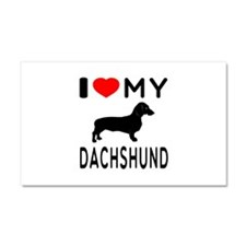 I Love My Dachshund Car Magnet 20 x 12