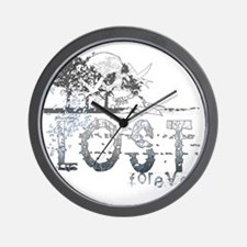 lost forever for black shirts Wall Clock
