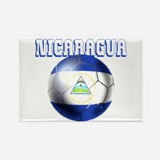 Nicaragua Football Rectangle Magnet