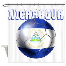 Nicaragua Football Shower Curtain