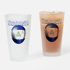 Nicaragua Football Drinking Glass